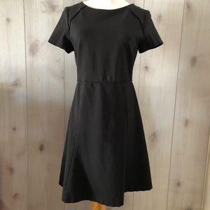 J CREW black short sleeve CREW NECK DRESS